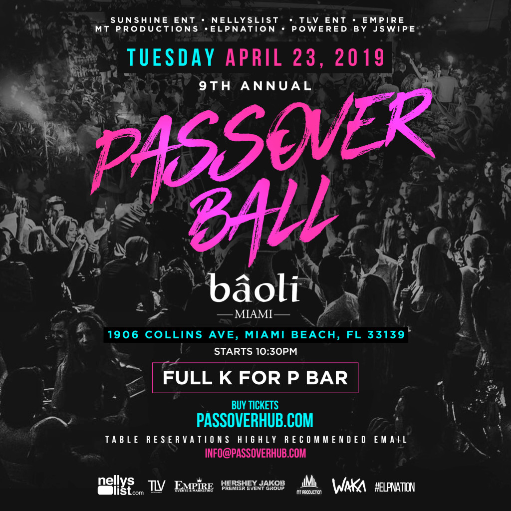 9th ANNUAL PASSOVER BALL AT BAOLI MIAMI